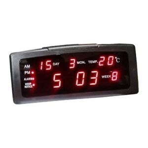 Orologio XL digitale led x parete muro,calendario,termometro,temperatura,datario