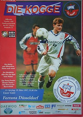 MSV Duisburg Programm Bundesliga 1996//97 FC Hansa Rostock