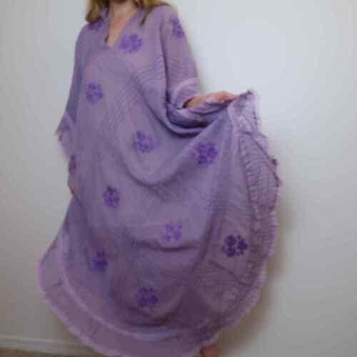 Vintage handmade lavender caftan dress