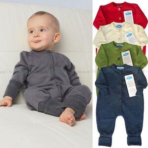 9ca593bb3ddaf0 Das Bild wird geladen Reiff-Strick-Relaex-Baby-Overall-Schlafanzug-Wolle- Seide-