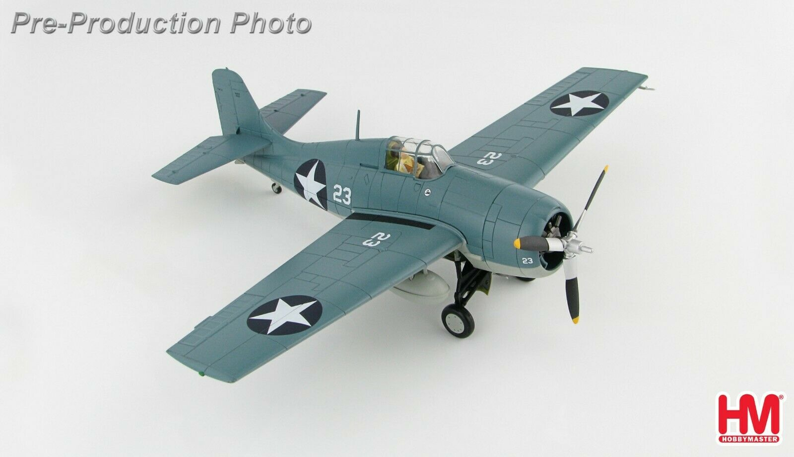 Chasseur US Grumman F4F-4 Wildcat, Midway 1942 - HOBBY MASTER 1 48  Réf. HA8902