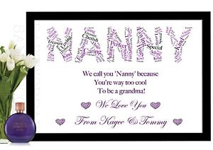 Image Is Loading NANNY Gifts NAN NANNIE NANNA NANA Personalised Birthday