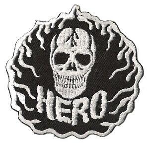 Patch-ecusson-thermocollant-brode-patche-HERO-tete-de-mort