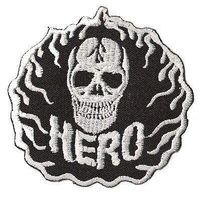 Ecusson brodé thermocollant patche Skull medium hotfix patch Tête de mort