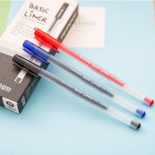 12 stücke  Liner Gel Stift Tinte 0,5mm Kugelschreiber Schreibwaren Büro Schule