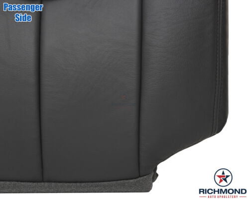 03 04 Chevy Avalanche Z71 Z66-PASSENGER Side Bottom Leather Seat Cover DARK GRAY
