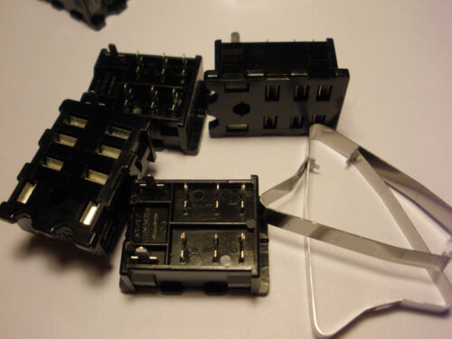 4 PC. MATSUSHITA HL2PSK RELAY SOCKETS, PC BOARD SOLDER, FOR HL2 RELAYS