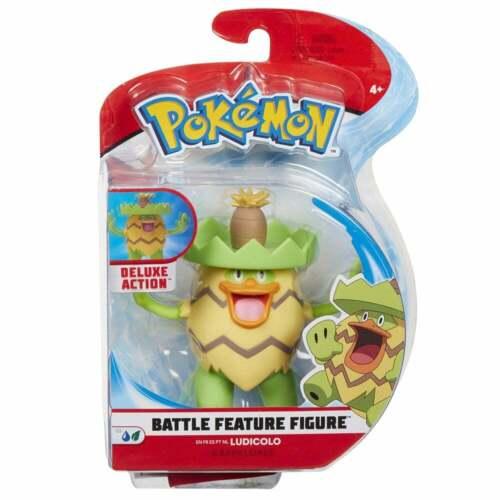 Pokemon 4.5 in environ 11.43 cm Battle Caractéristique Figure-Ludicolo Eau//Grass Pokemon