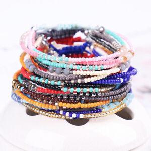 Details About Uni Handmade Seed Bead Bracelet Lovely Por Lucky Bracelets Bangles