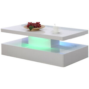 High-Gloss-White-LED-Coffee-Table-with-16-Light-Effects-amp-RC-Living-Room-Furniture