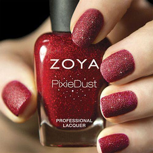 ZOYA PixieDust ZP657 CHYNA Red Matte Sparkle Nail Polish LacquerPIXIE DUST 5oz