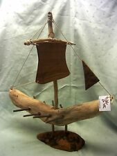 Olivenholz Schiff Segelboot sailboot olive wood Handarbeit maritim