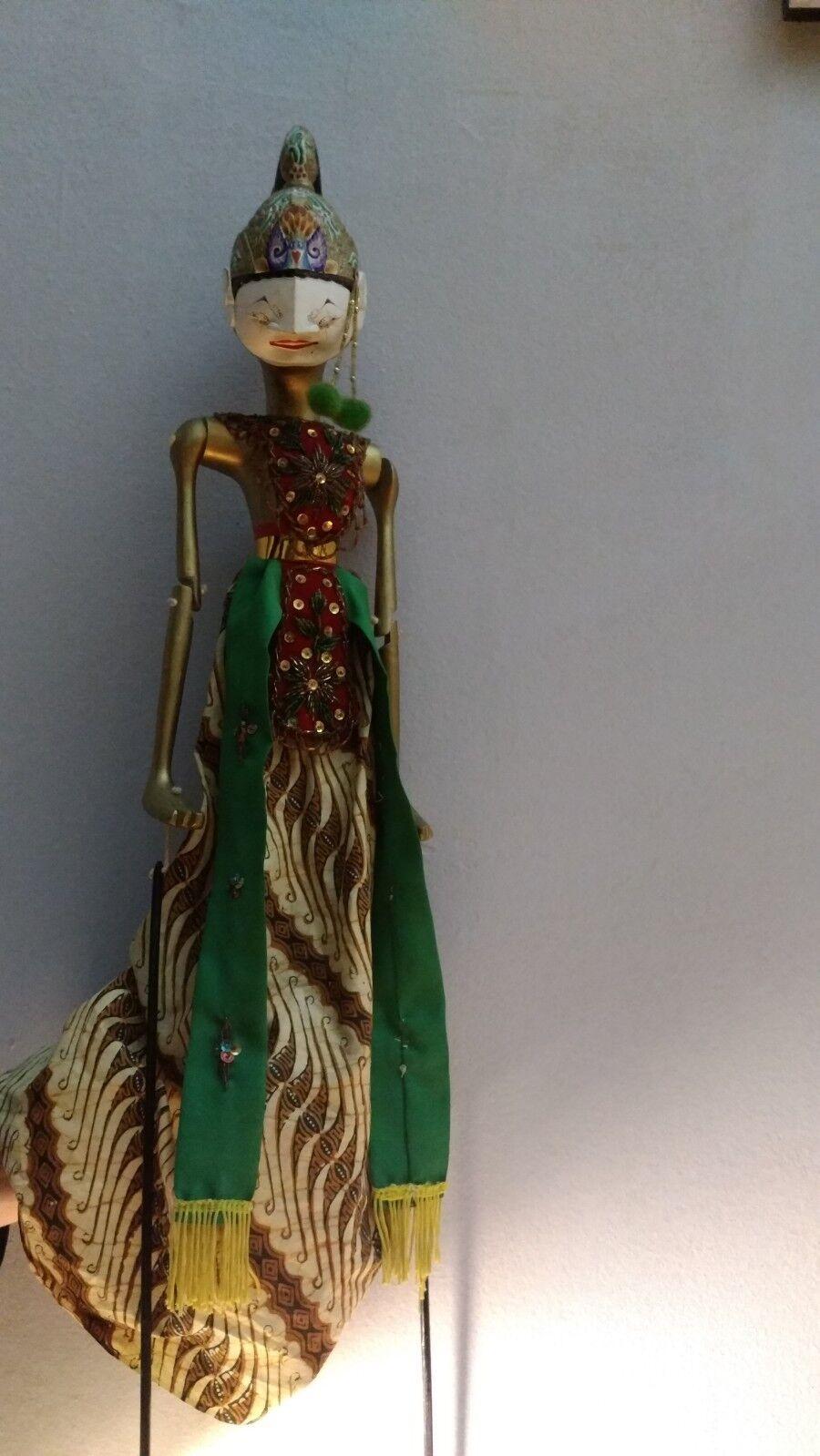 Marionetta in legno tradizionale  Tailandese fatta a mano e dipinta 55 cm
