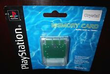Original SONY PlayStation 1 Memory Card  (Crystal Clear)  FACTORY SEALED & RARE!
