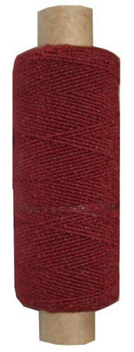 9975 Hutgummi Gummi Nähfaden 30m 1mm bordeaux weinrot