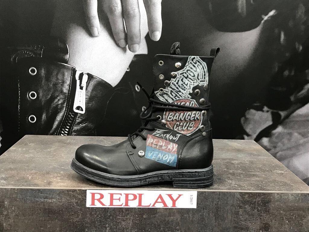 REPLAY pelle Scarpe da Donna Scarpe Stivali Stivaletti boots pelle REPLAY Amory Head succhiasangue Club 70133c