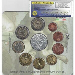 "Italie 2012 BU Serie 9 monnaies + 5 euro argent ""capella sistina"""