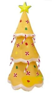 CHRISTMAS SANTA 8 FT GINGERBREAD TREE CANDY CANE  INFLATABLE AIRBLOWN YARD DECOR