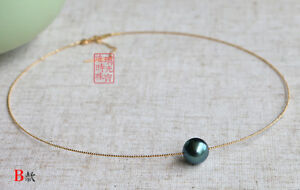 18-034-Stunning-AAAA-11-12mm-real-natural-Tahitian-black-round-pearl-necklace-18k