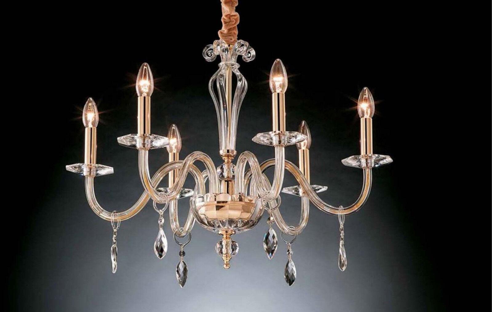 incredibili sconti Lampadario in cristallo oro classico 6 luci Design Swarovsky Swarovsky Swarovsky Dany  una marca di lusso