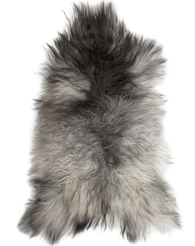 Super Soft Silky Feel Luxury Large Soft Sheepskin Rug Rugs Hide Natural grau