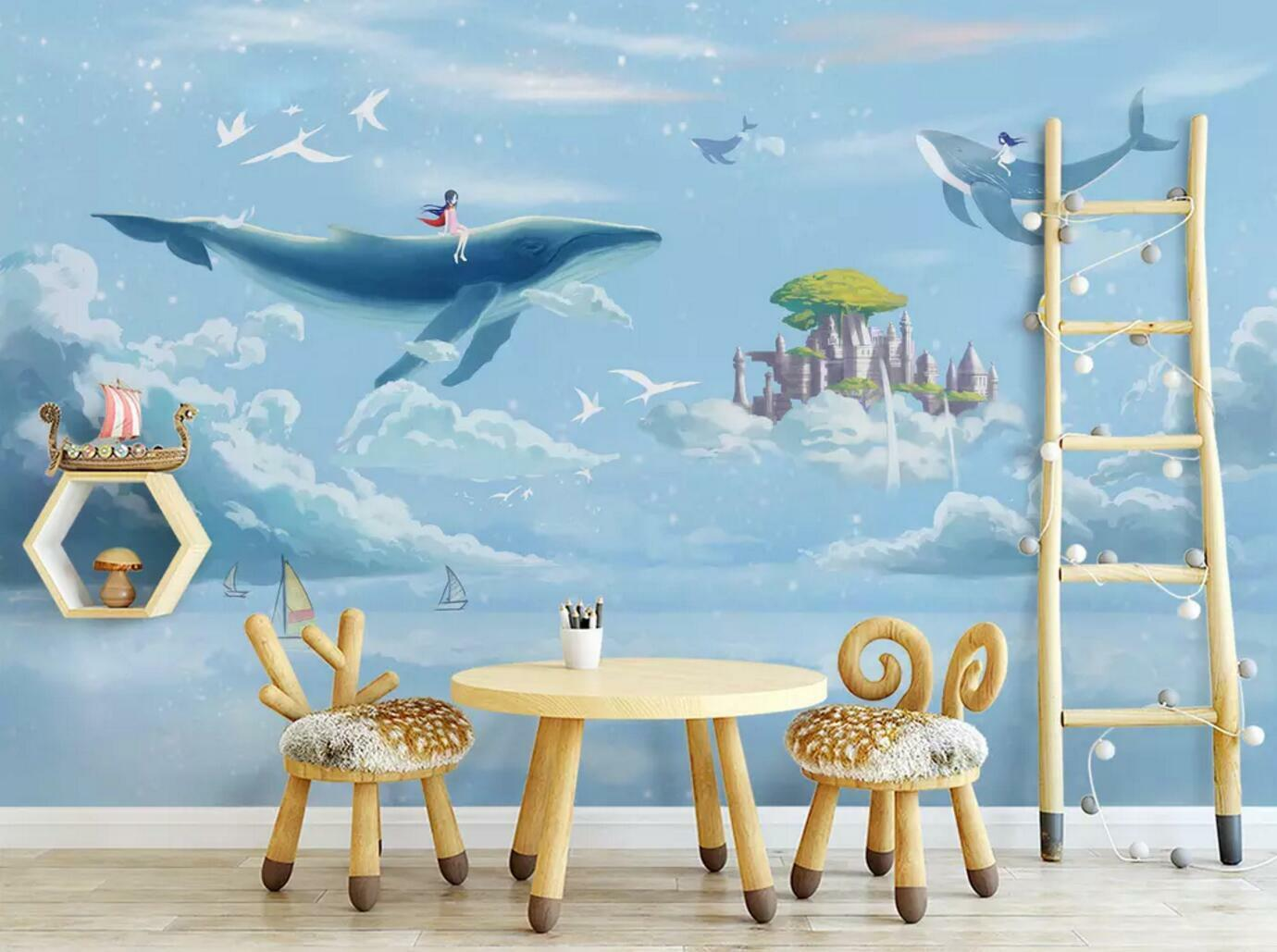 3D Swa Dolphin 707 Wall Paper Exclusive MXY Wallpaper Mural Decal Indoor Wall