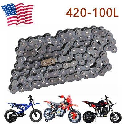 Motorcycle Pit Bike Drive Chain 420-100 Gold