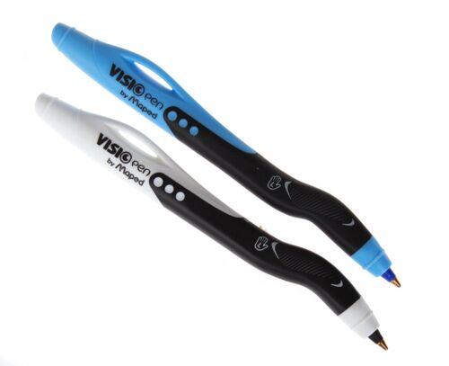 blau oder schwarz, Visio Kugelschreiber Stifte Maped Linkshänder