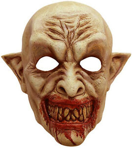 HOMMES-HALLOWEEN-VAMPIRE-Masque-creature-latex-tete-complete-Deguisement-NEUF