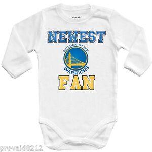 Détails sur Baby Body Nouveau Ventilateur Golden State Warriors, NBA Basketball One Piece Jersey afficher le titre d'origine