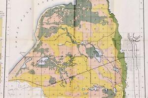 Details about 1889 Salt Lake City Map Railroads Herrimans Consolidated  Canal RARE ORIGINAL