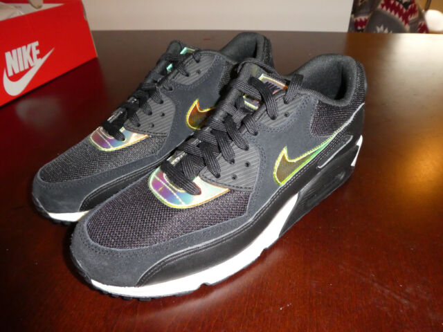 the latest 395c4 4ba1d Nike Air Max 90 Premium 333888-035 Black Leather Casual Shoes Medium ...