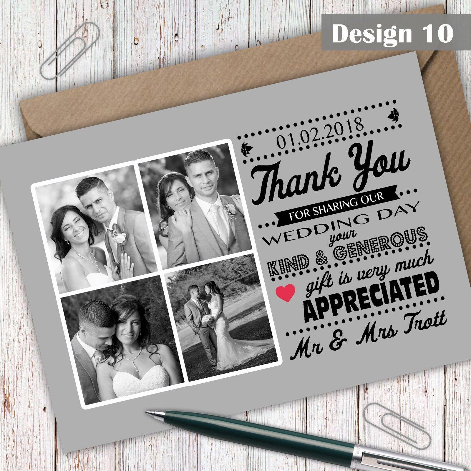 Foto Personalizzata Personalizzata Personalizzata Matrimonio Ringraziamenti Inc BUSTE bozza gratuita disponibile 540de6