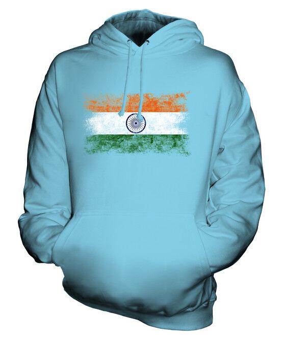 INDIA DISTRESSED FLAG UNISEX HOODIE TOP BHAROT BHARATA BHARAT INDIYA INDIAN