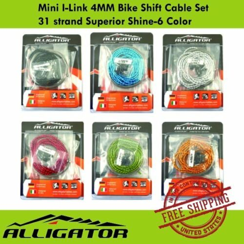 Alligator Mini I-Link 4MM Bike Shift Cable Set 31 strand Superior Shine-6 Color