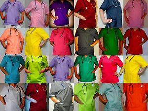 Berufskleidung-Medizin-Gesundheitswesen-Damenkasack-Gr-38-40-42-44-46-48-50-52