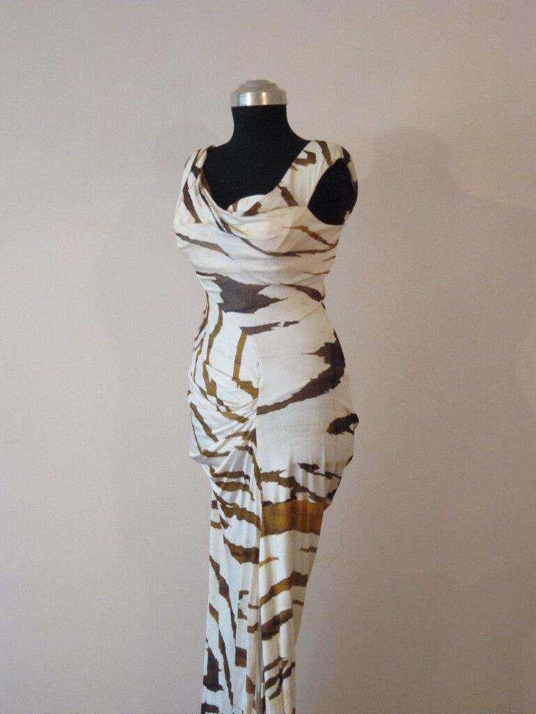 2900 SEXY ROBERTO CAVALLI Long Gown with silk scarf