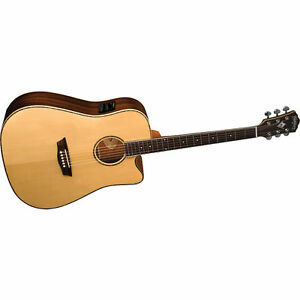 Natural Musical Instruments & Gear Washburn Wlg16s Grand Auditorium 6-string Acoustic Guitar Guitars & Basses