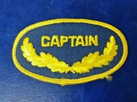 Captain Military Name Tag Patch