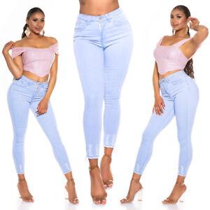 Jeans Ladies High Waist Skinny Jeans Denim Pants Washed Look Used