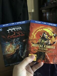 Mortal Kombat Legends Scorpions Revenge Justice League Dark War Blu Ray Dvd Ebay