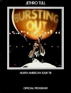 JETHRO-TULL-1978-BURSTING-OUT-U-S-TOUR-CONCERT-PROGRAM-BOOK-BOOKLET-NMT-2-MNT