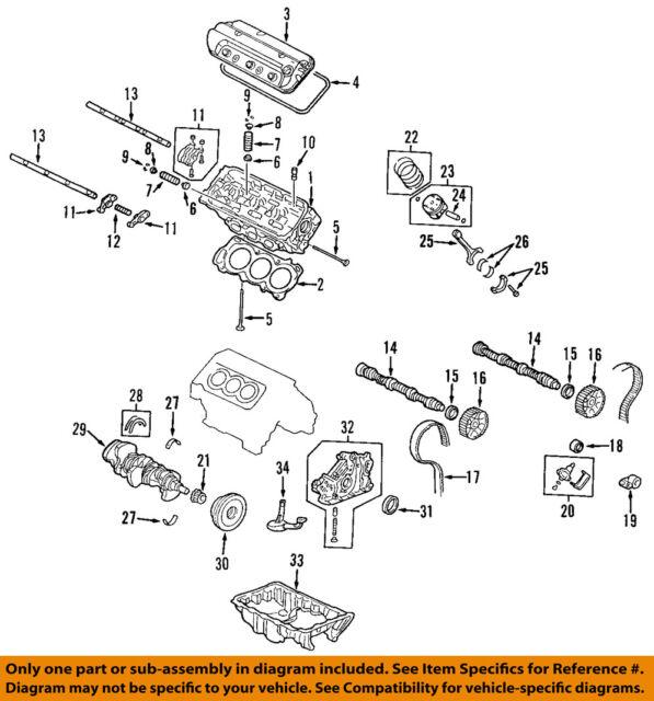 honda oem valve lifter 14820p8aa01 ebay rh ebay com Engine Block Diagram Engine Block Diagram