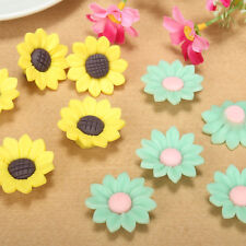 Handmade! 20/50pcs Mixed Polymer Fimo Clay Sun Flower Spacer Loose Beads 30mm