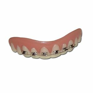Details about Fake Teeth With Braces - Nerd Costume Accessory False Teeth  funny teenager teeth