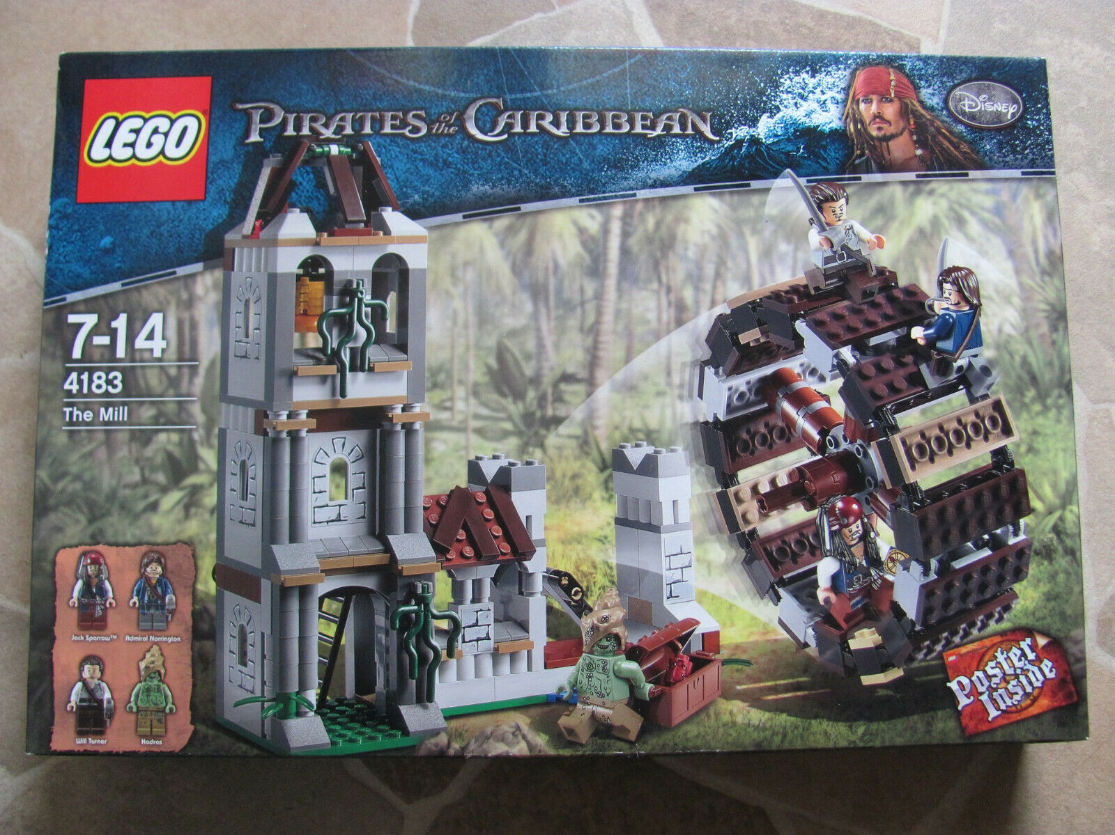 Lego Pirates of the voitureibbean 4183 Duel at  the Water Mill nouveau & OVP  le magasin