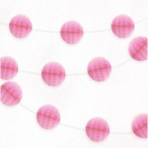 Pink-Mini-Honeycomb-Ball-Paper-Garland-Party-Banner-Decoration-7Ft