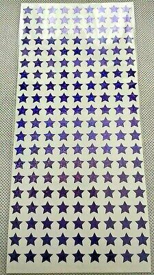 Violet Étoiles-paillettes holographique Sparkle étanche autocollants devoirs 10 mm
