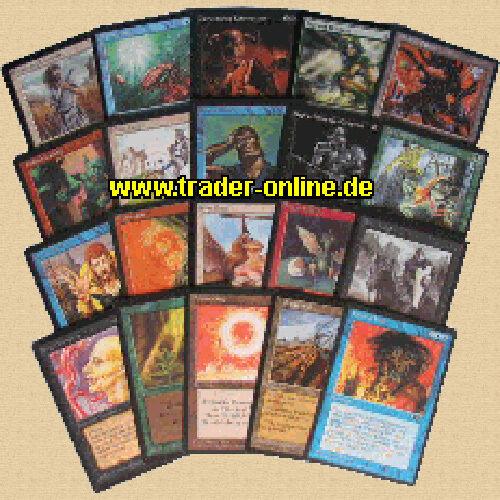 20 ungew Farben deutsch UNCOMMON PACK original Magic Karten Sammlung Div