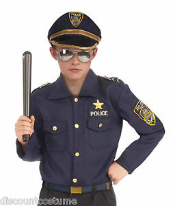 Instant police officer kit cop book report halloween costume child medium - Police officer child costume ...
